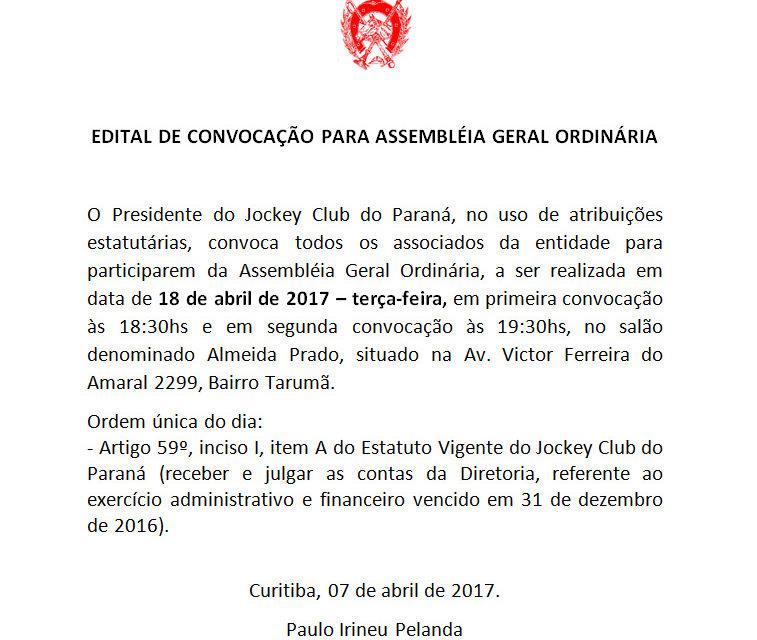 Editais de convocação para assembléia geral – 18 de abril de 2017