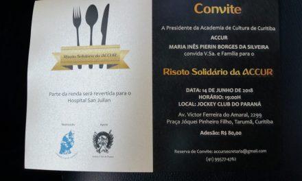 CONVITE: Risoto Solidário da ACCUR